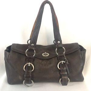 Coach Chelsea Hobo Purse Black Pebble Leather Bag